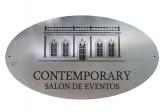 Placa Conmemorativa Ovalada en acero